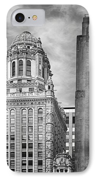 Jewelers' Building - 35 East Wacker Chicago Phone Case by Christine Till