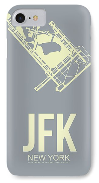Jfk Airport Poster 1 IPhone Case by Naxart Studio