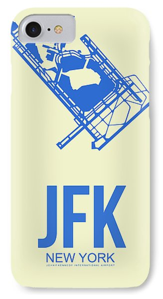 Jfk Airport Poster 3 IPhone Case by Naxart Studio