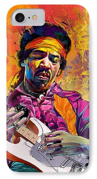 Jimi Hendrix #1 IPhone Case by Ruben Furio