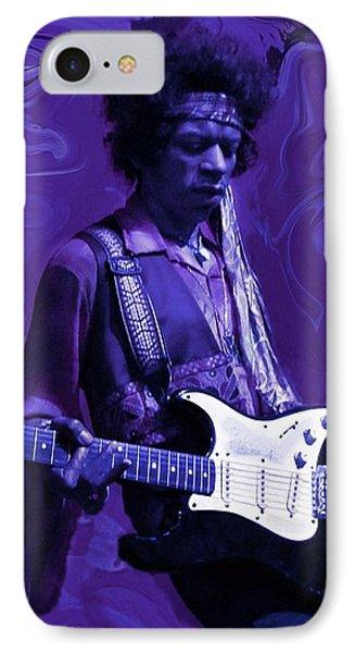 Jimi Hendrix Purple Haze IPhone 7 Case by David Dehner
