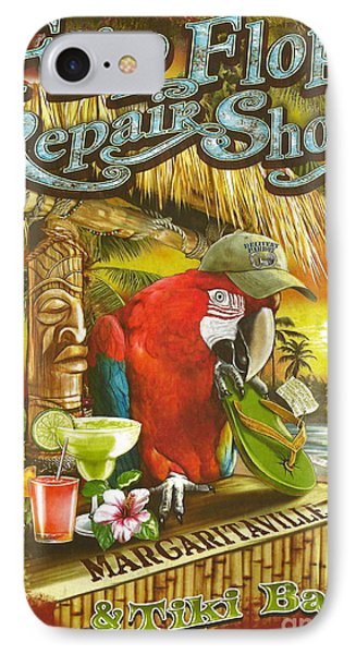 Jimmy Buffett's Flip Flop Repair Shop IPhone Case by Desiderata Gallery