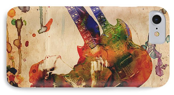 Jimmy Page - Led Zeppelin IPhone 7 Case by Ryan Rock Artist