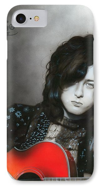 ' Jimmy Page ' IPhone 7 Case by Christian Chapman Art