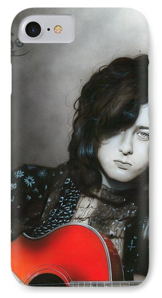 ' Jimmy Page ' IPhone Case by Christian Chapman Art