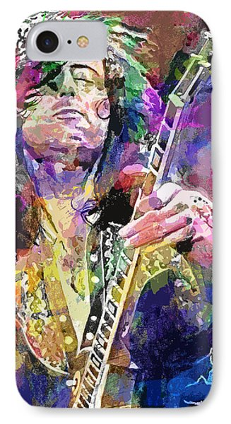 Jimmy Page Electric IPhone Case by David Lloyd Glover