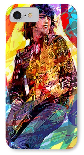Jimmy Page Leds Lead IPhone Case by David Lloyd Glover