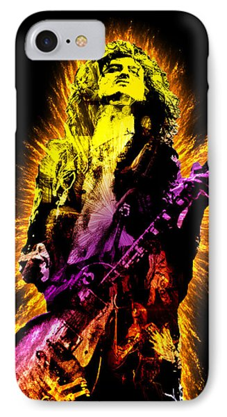 Jimmy Page IPhone Case by Michael Lee