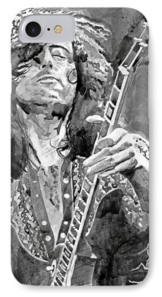 Jimmy Page Mono IPhone Case by David Lloyd Glover