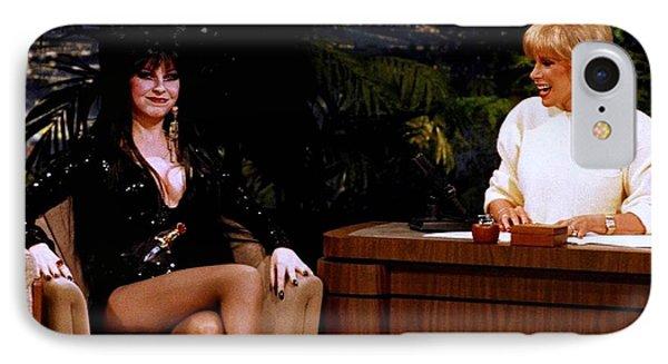 Joan Rivers And Elvira IPhone 7 Case by Brian Benjamin