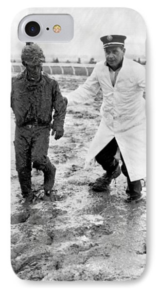 Jockey Rescued From The Mud IPhone Case by Underwood Archives