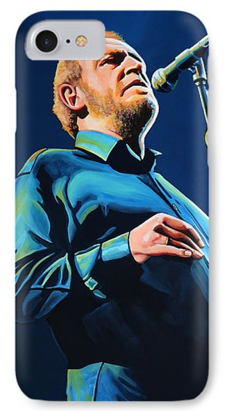 Joe Cocker Painting IPhone Case by Paul Meijering