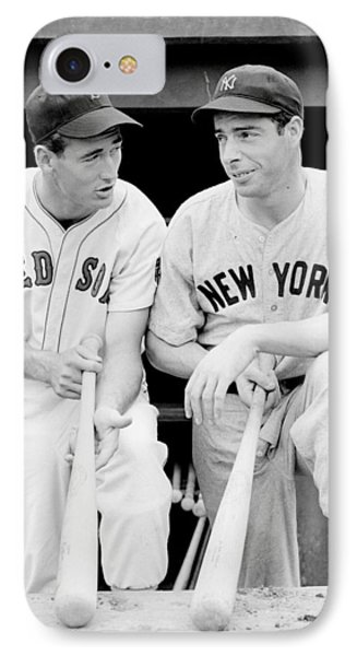 Joe Dimaggio And Ted Williams IPhone Case by Gianfranco Weiss