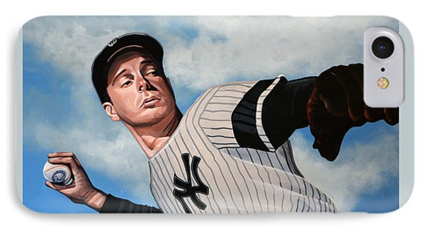 Joe Dimaggio IPhone Case by Paul Meijering