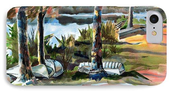 John Boats And Row Boats Phone Case by Kip DeVore