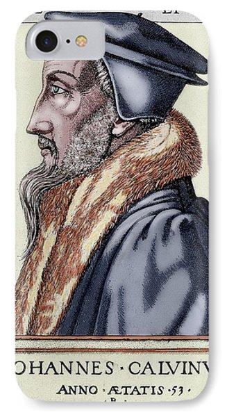 John Calvin (1509-1564 IPhone Case by Prisma Archivo