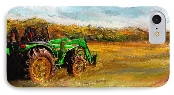 John Deere Tractor- John Deere Art IPhone Case by Lourry Legarde
