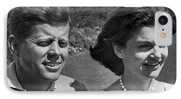 John F. Kennedy And Jacqueline IPhone Case by Underwood Archives