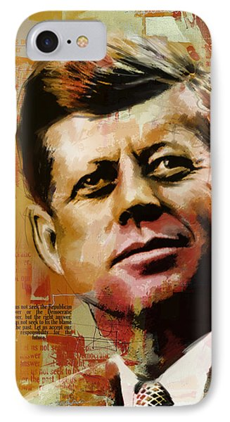 John F. Kennedy IPhone Case by Corporate Art Task Force
