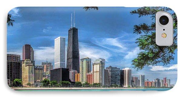 John Hancock Chicago Skyline Panorama IPhone 7 Case by Christopher Arndt