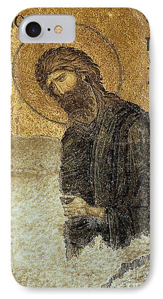 John The Baptist-detail Of Deesis Mosaic  Hagia Sophia-judgement Day Phone Case by Urft Valley Art