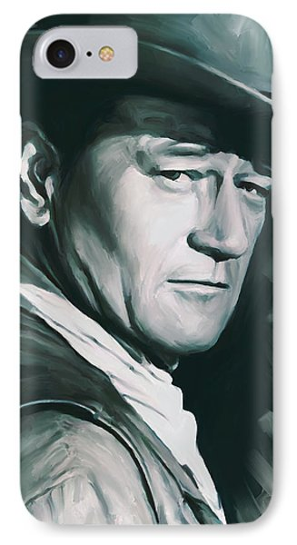 John Wayne Artwork IPhone Case by Sheraz A