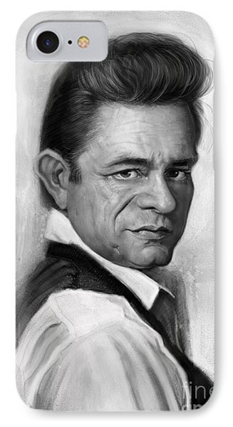 Johnny Cash IPhone 7 Case by Andre Koekemoer