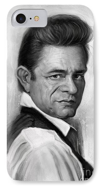 Johnny Cash IPhone Case by Andre Koekemoer