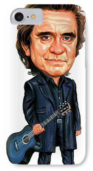 Johnny Cash IPhone 7 Case by Art