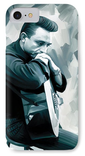 Johnny Cash Artwork 3 IPhone 7 Case by Sheraz A