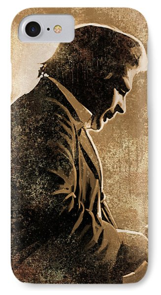 Johnny Cash Artwork IPhone 7 Case by Sheraz A