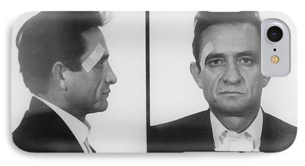 Johnny Cash Folsom Prison IPhone 7 Case by David Millenheft