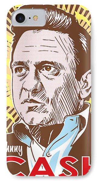 Johnny Cash Pop Art IPhone Case by Jim Zahniser