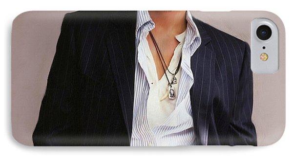 Johnny Depp IPhone 7 Case by Dominique Amendola