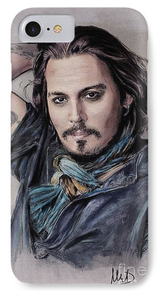 Johnny Depp IPhone 7 Case by Melanie D