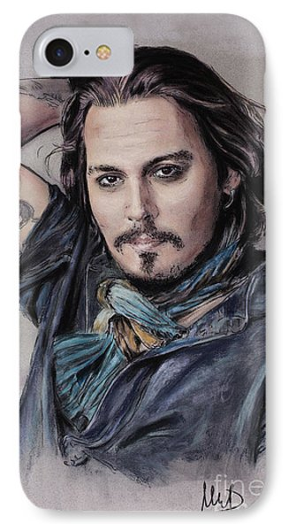 Johnny Depp IPhone Case by Melanie D