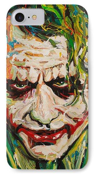 Joker IPhone 7 Case by Michael Wardle