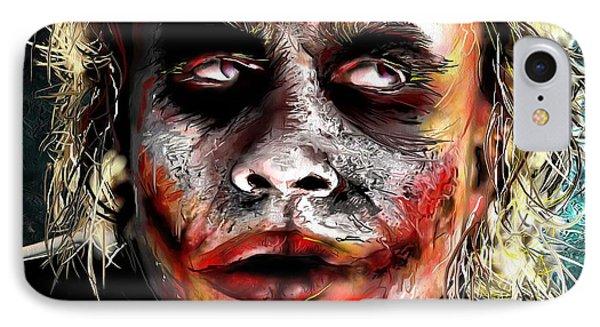Joker Painting IPhone 7 Case by Daniel Janda