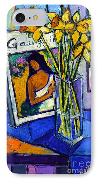 Jonquils And Gauguin IPhone Case by Mona Edulesco