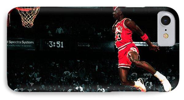 Jordan In Flight IPhone Case by Brian Reaves