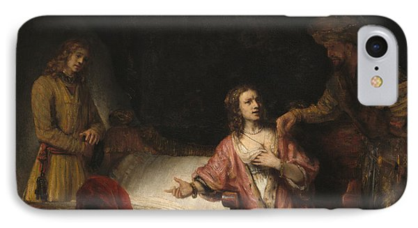 Joseph Accused By Potiphar's Wife IPhone Case by Rembrandt