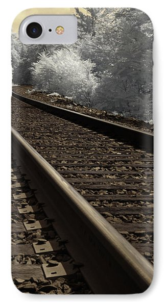 Journey On The Tracks IPhone Case by Luke Moore