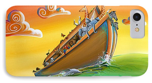 Noah's Ark - Journey To New Beginnings IPhone Case by Cindy Thornton