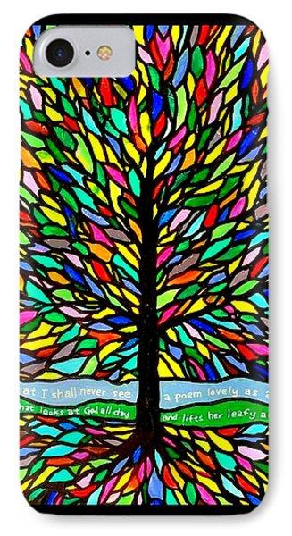 Joyce Kilmer's Tree Phone Case by Jim Harris