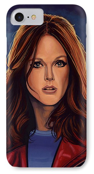 Julianne Moore IPhone Case by Paul Meijering