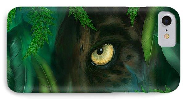 Jungle Eyes - Panther IPhone 7 Case by Carol Cavalaris