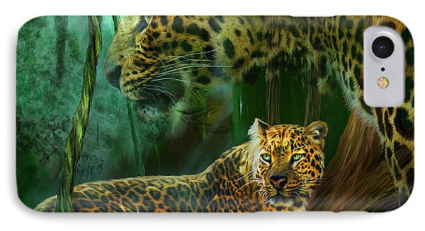 Jungle Spirit - Leopard Phone Case by Carol Cavalaris