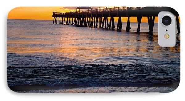 Juno Beach Pier IPhone Case by Carey Chen