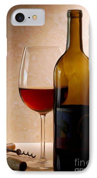 Justin Wine Painting IPhone Case by Jon Neidert