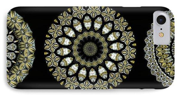 Kaleidoscope Ernst Haeckl Sea Life Series Steampunk Feel Triptyc Phone Case by Amy Cicconi